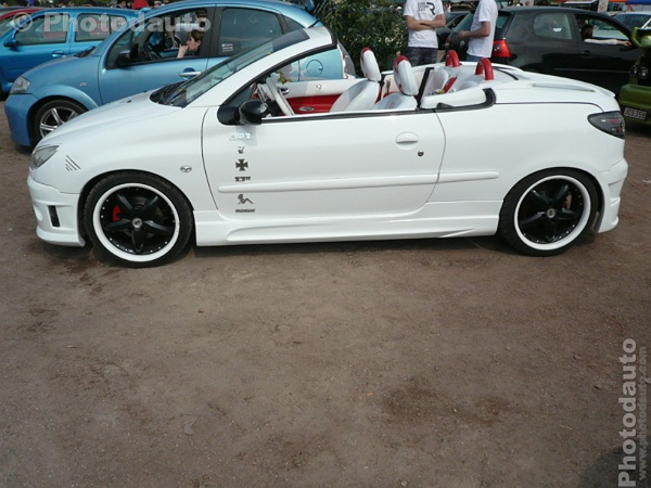 Peugeot 206 CC blanche Photo voiture tuning