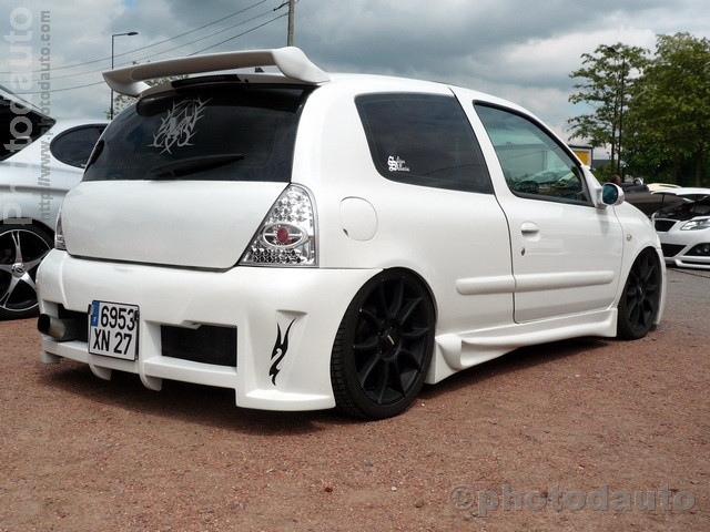 Renault clio blanche photo voiture tuning - Voiture tuning images ...